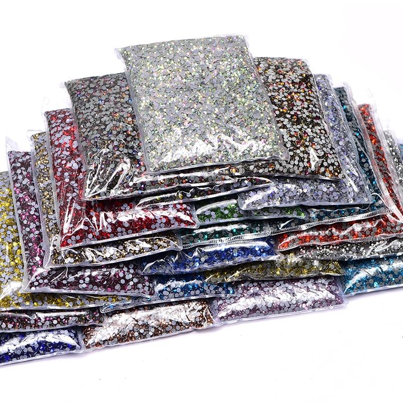 Crystal Rhinestone Hot-Fix 14400pcs/bulk-Bag Wholesale High-Quality SS6-SS20 DMC Better
