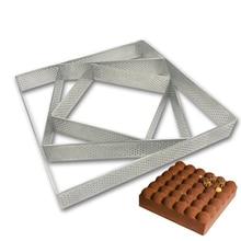 Квадратная Прямоугольная форма из нержавеющей стали для изготовления тортов, для пиццы, фруктового пирога, кондитерских изделий, DIY, декоративная форма, практичные кухонные инструменты для выпечки