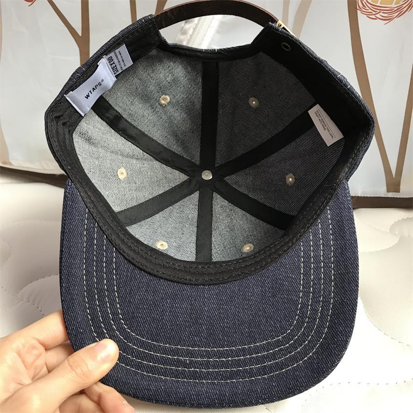 Image 5 - WTAPS джинсовая бейсбольная кепка с плоским краем, мужская и женская Кепка с вышивкой для папы, хип хоп бейсболки для водителя грузовика, кепки для гольфа, уличные регулируемые HarajukuМужские бейсболки    АлиЭкспресс