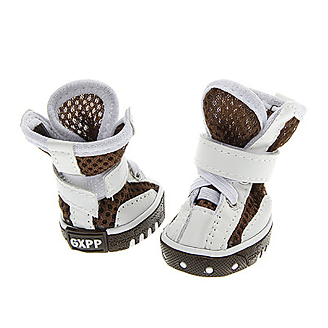 Fashionable Sport Style Puppy Boots Smal Dog Breathable Mesh Pet  Shoes Big Dog Shoes Pet Board Boot Dog Sports Shoes