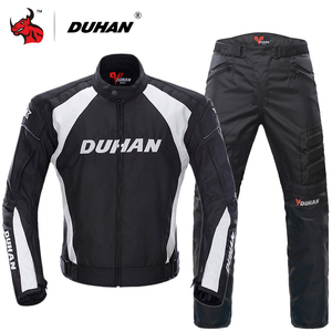 Image 1 - DUHAN Windproof Motorcycle Racing Suit Protective Gear Armor Motorcycle Jacket+Motorcycle Pants Hip Protector Moto Clothing Set