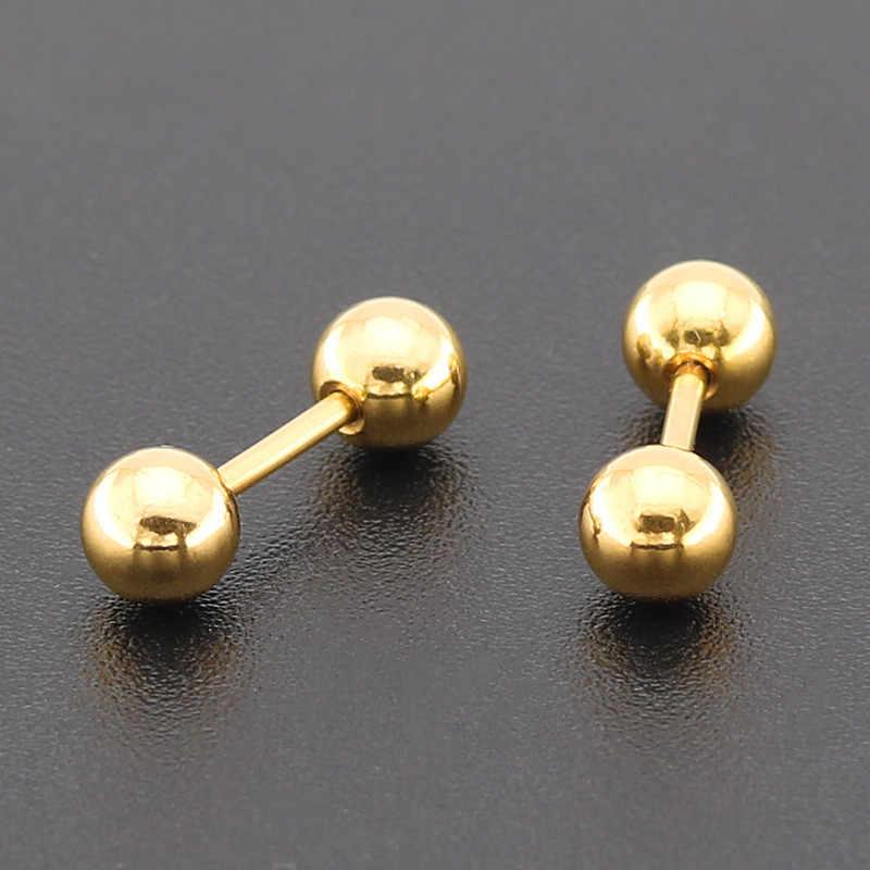 2 قطعة 2-6 مللي متر الفولاذ المقاوم للصدأ الحديد أقراط للنساء الغضروف الزنمة بار الأذن مربط الشفاه الزنمة الأذن ثقب مجوهرات للجسم