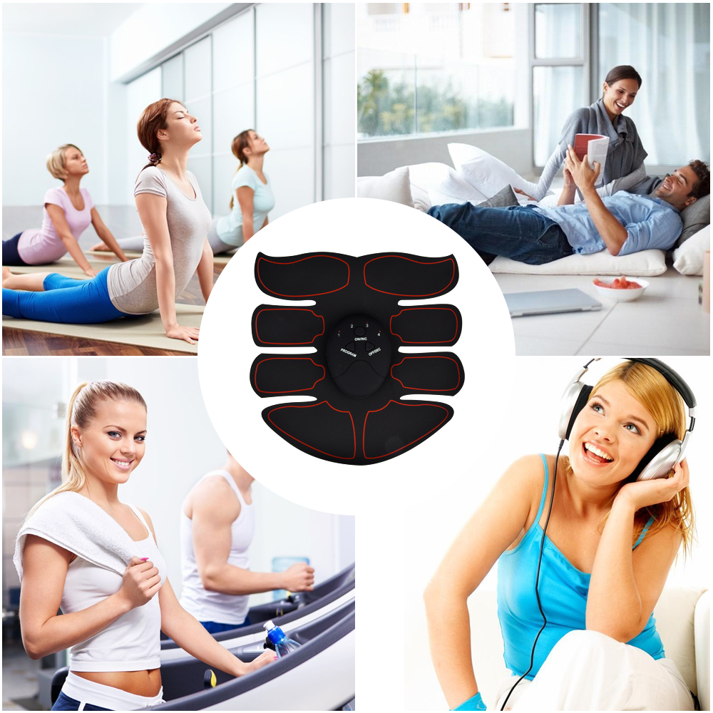 Abdominal ABS Electric Muscle Stimulator Wireless Buttocks Hip Trainer