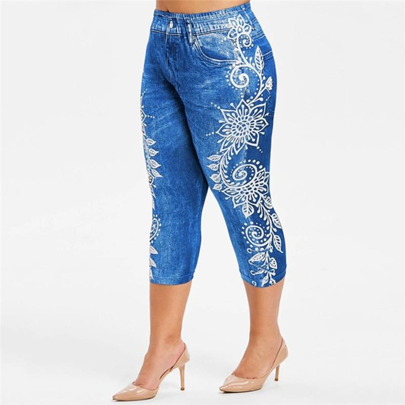 Новинка 2020, женские брюки, модные, с цветочным принтом, с высокой талией, сексуальные, Женский жаккардовый, с переплетением, для женщин