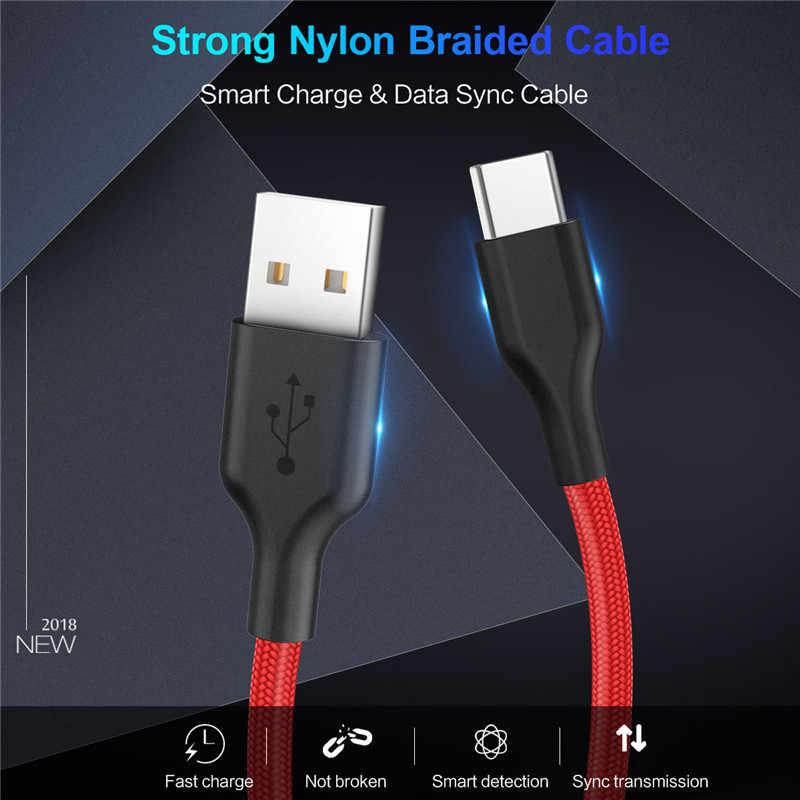 Dobry rodzaj USB C kabel 3A dla Xiaomi Redmi Note 7 Mi9 szybkie ładowanie, synchronizacja danych kabel USB C do Samsung Galaxy S9 Oneplus 6t typu C