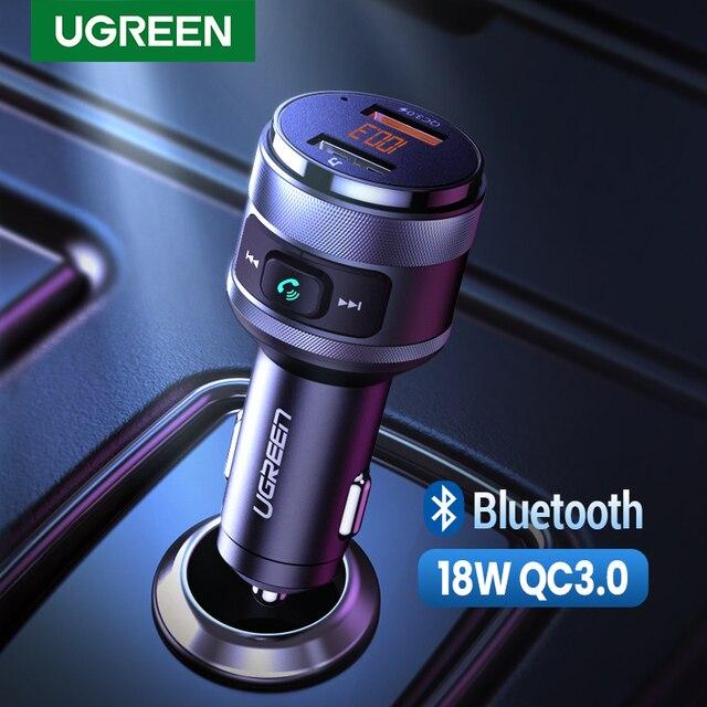 UGREEN USB chargeur de voiture FM transmetteur rapide 3.0 Charge chargeur rapide pour Xiaomi Samsung iPhone Huawei QC3.0 chargeur de voiture