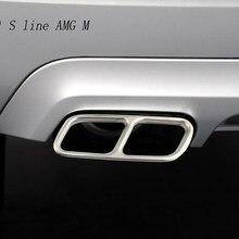 Pegatinas decorativas para el marco de la garganta trasera del coche, accesorios para el tubo de escape de Mercedes Benz GLK X204 CLS W218
