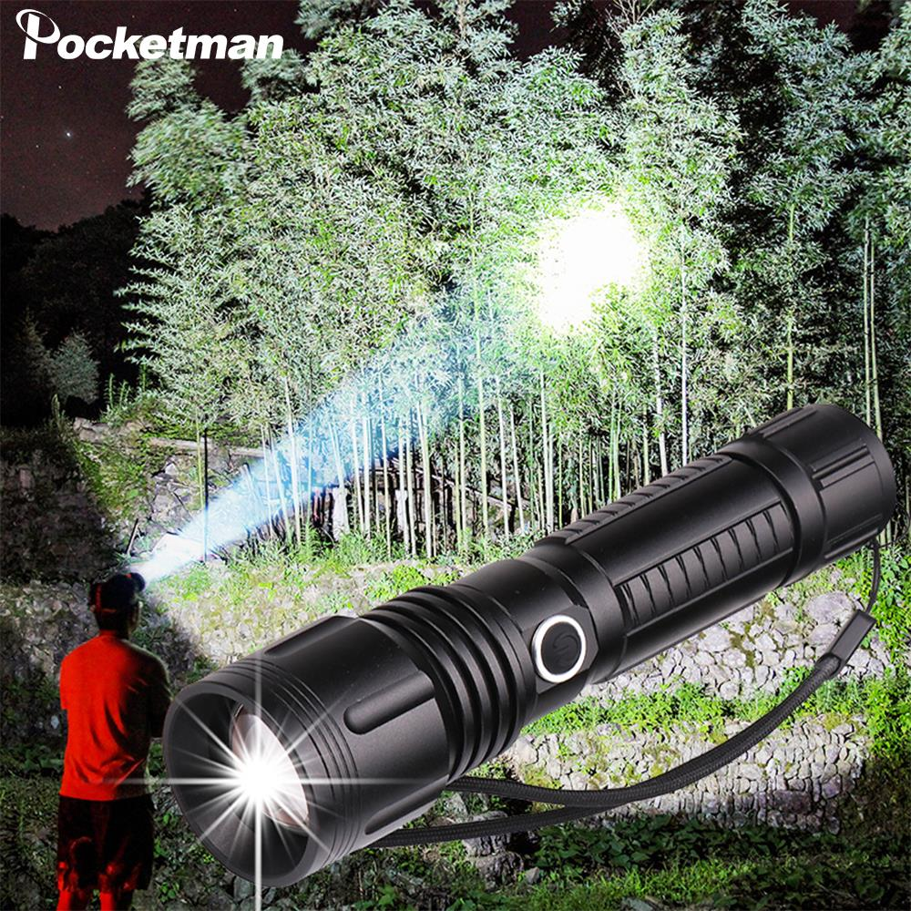 Flashlight XHP 70.2 LED Torch Zoomable Flashlight XHP70 XHP50 USB Torch Camping Flashlight By 18650 Rechargeable Battery