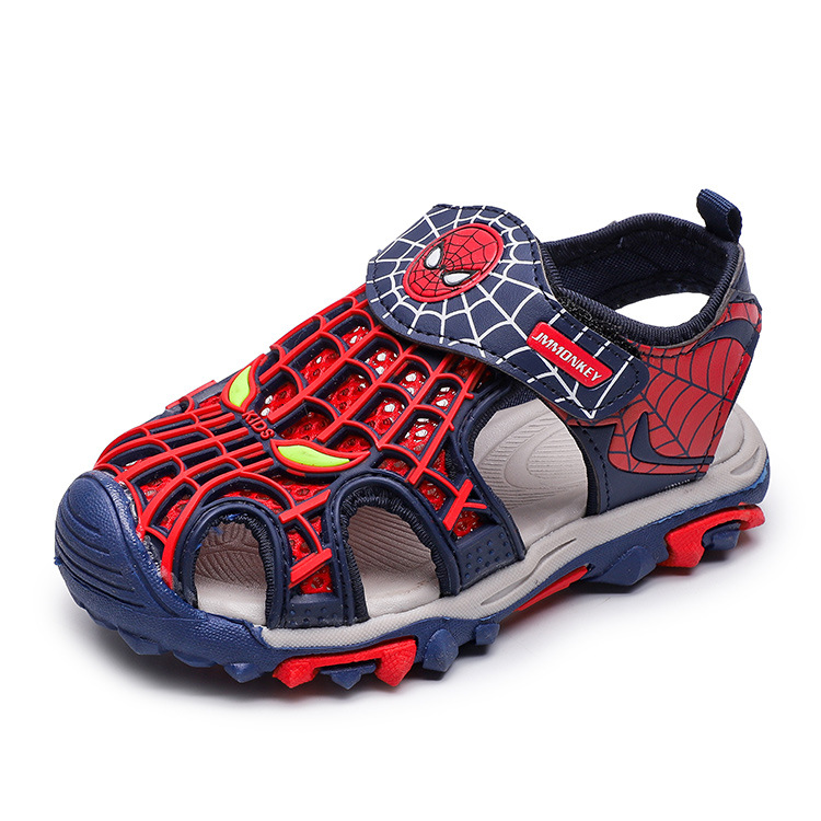 2020 Summer Kids Shoes Brand Closed Toe Toddler Boys Spiderman Sandals Orthopedic Sport Pu Leather Baby Boys Beach Sandals