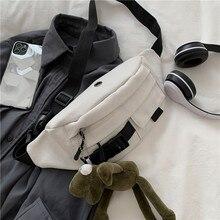 Waist Bags Casual Functional Money Phone Pouch Belt Bag Female Canvas Banana Bag Fanny Pack Cargo Harajuku Fashion Ulzzang Daily