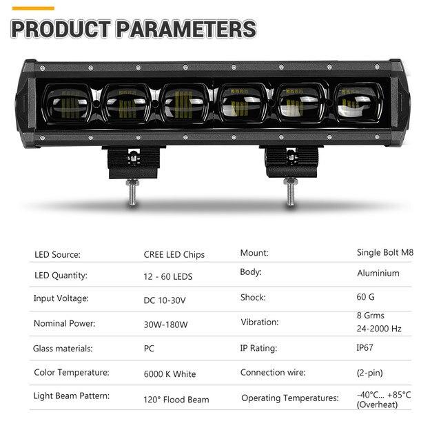6D Lens led bar light (2)