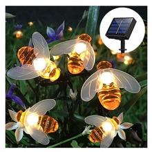 Explosion models LED solar bee lights string outdoor courtyard decorat