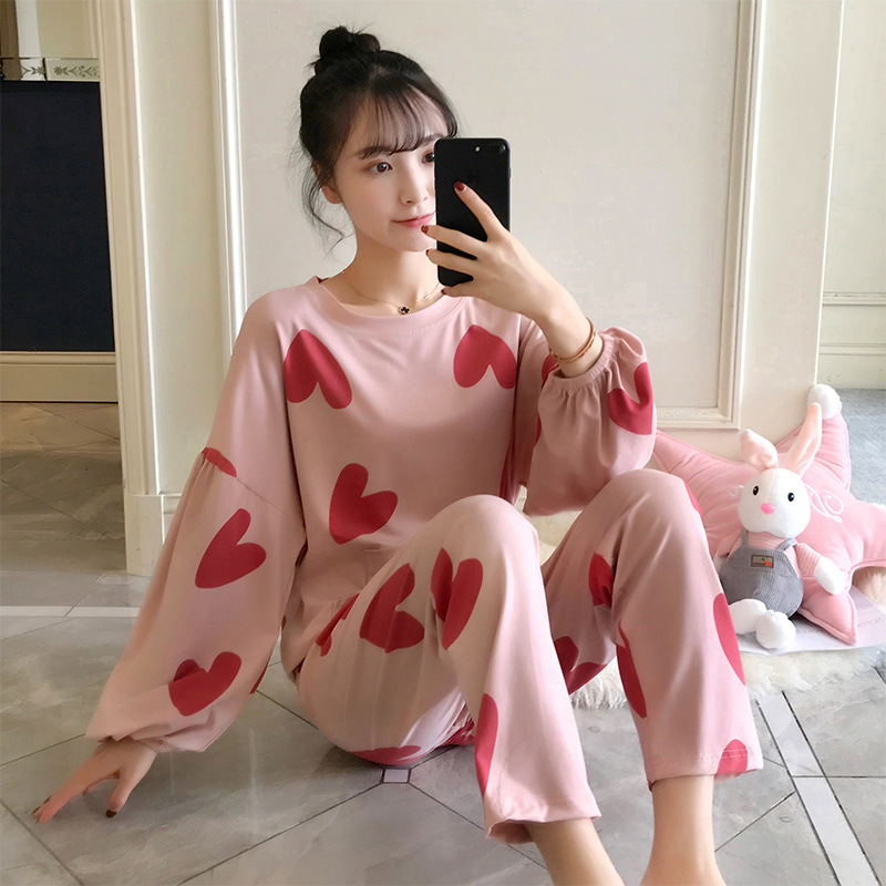 0812 # Kee Shing 2019 New Products Long Sleeve Pajamas Women's 160 Grams Set Qmilch M -- XXL