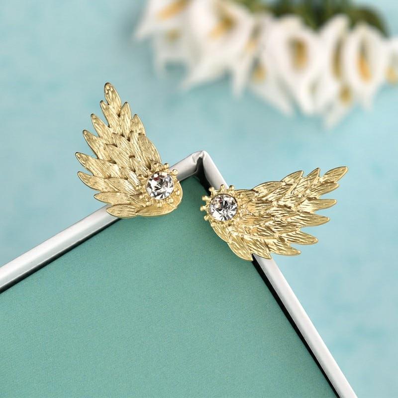 Mode rose pierre cristal fleur goutte boucles d'oreilles pour femmes or strass boucles d'oreilles bijoux modernes cadeau 19
