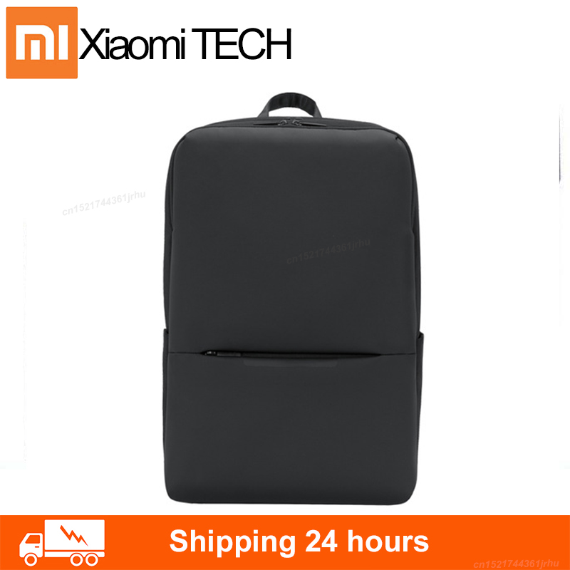 Original Xiaomi Mi Classic Business Backpack 2 Generation 4 Waterproof 15.6-inch Laptop Shoulder Bag Lightweight Outdoor Travel image