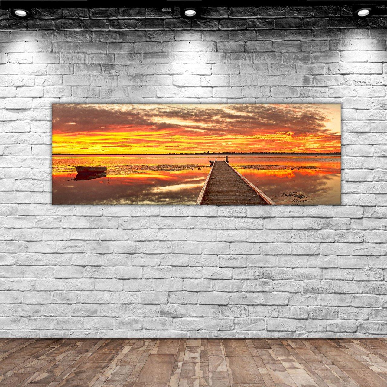 BK Home Landscape Panorama Canvas Table 100x35cm-2 Modern Convenient Reliable Decoration Gift Quality Design Simple Vicinity