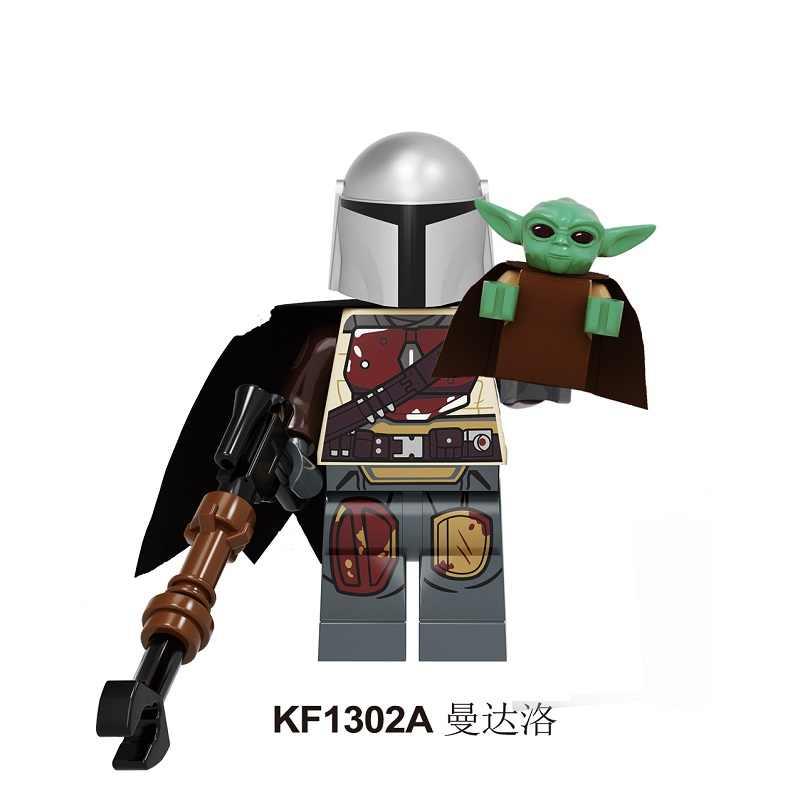 赤ちゃんヨーダ juguete ビルディングブロック Starw レイ PoE Dameron Mandalorian ジャンゴ · フェット Drabatan フィギュアプレゼントのおもちゃ子供のための KF1331