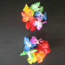 4 * Hawaiian Flower Leis Garland Necklace Fancy Dress Party Hawaii Beach Tools(China)