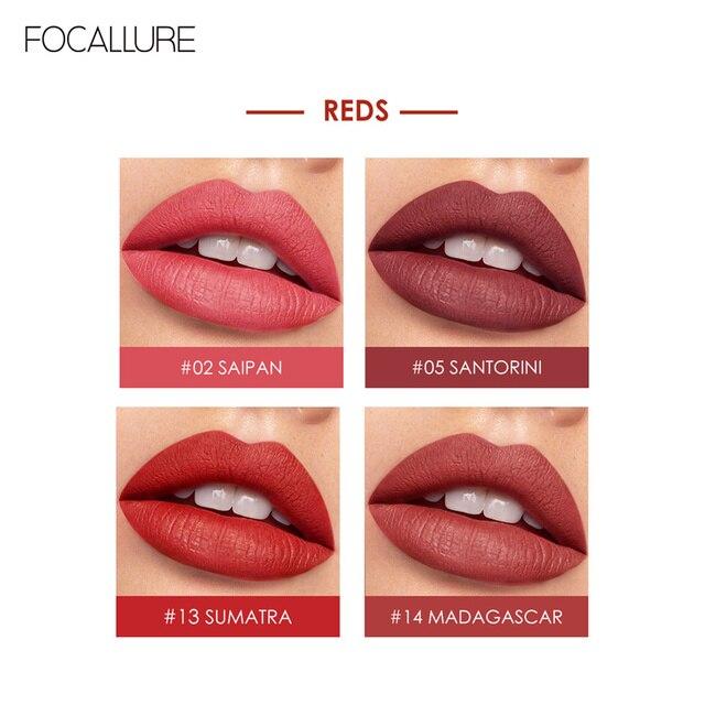 FOCALLURE Staymax Matte Liquid Lipstick Lip Makeup Long Lasting Kissproof Nourish Lip Tint Lightweight formula Liquid Lipstick 5