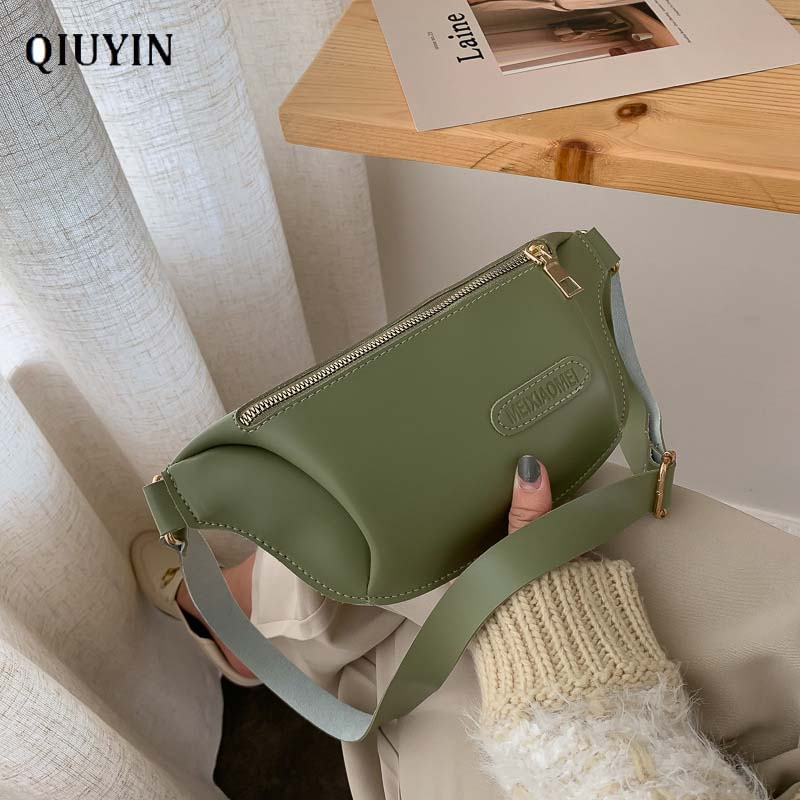 Qiuyin Zip Vintage New Chic Bag Korean Fanny Pack Women's/famela Waist Bag Waterproof Travel Shoulder Strap Luxury Leather Belt