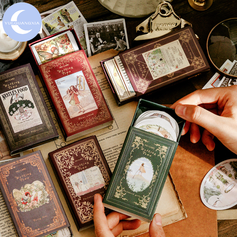 Mr.paper Matchbox Medieval Elf Scrapbooking Vintage Delicated Original Laptop Motor Retro Stationery Stickers 60 Pcs 6 Designs
