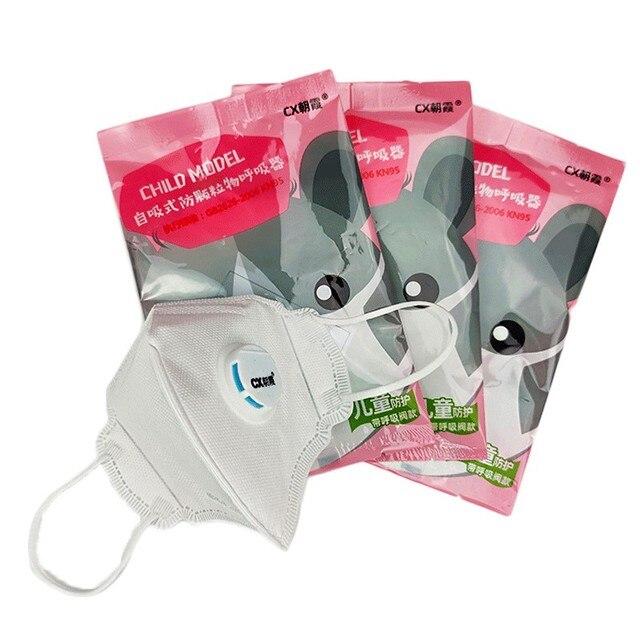 10pcs Kids Respirator Mask FFP3 Mask Mascarilla FFP2 Face Mask N95 Breathing Valve Antivirus Masks Anti Dust Flu Anti Haze Mask 3