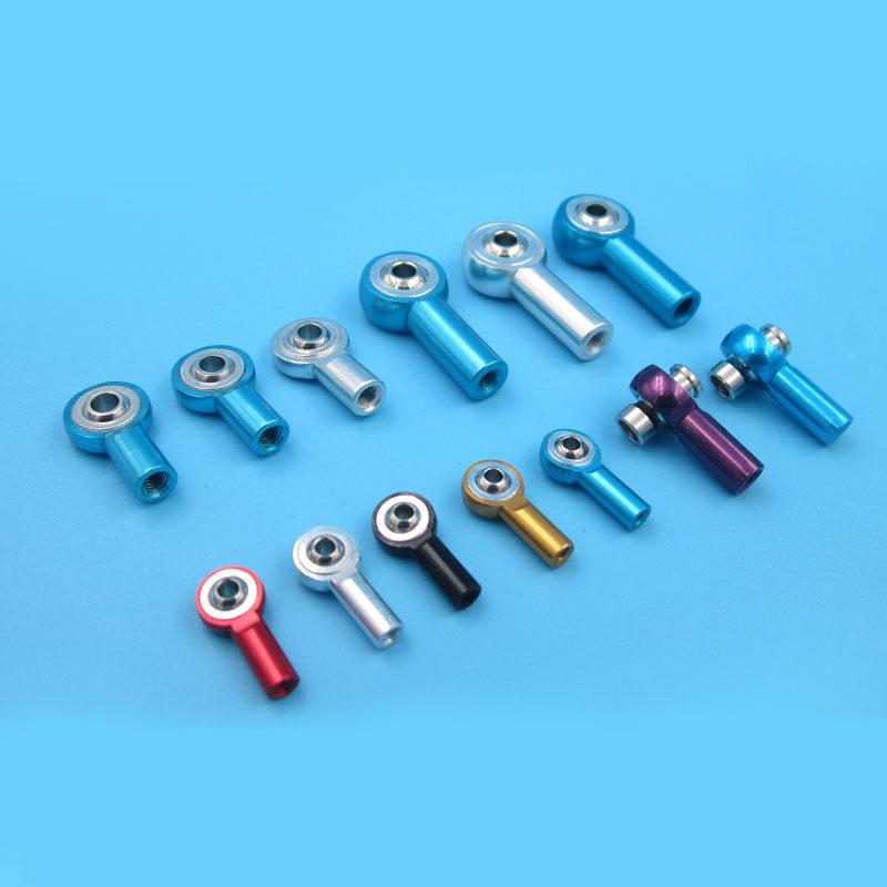 3mm Thread Hole Dia 25mm x 6mm Double Ends Aluminum Push Rod Connector