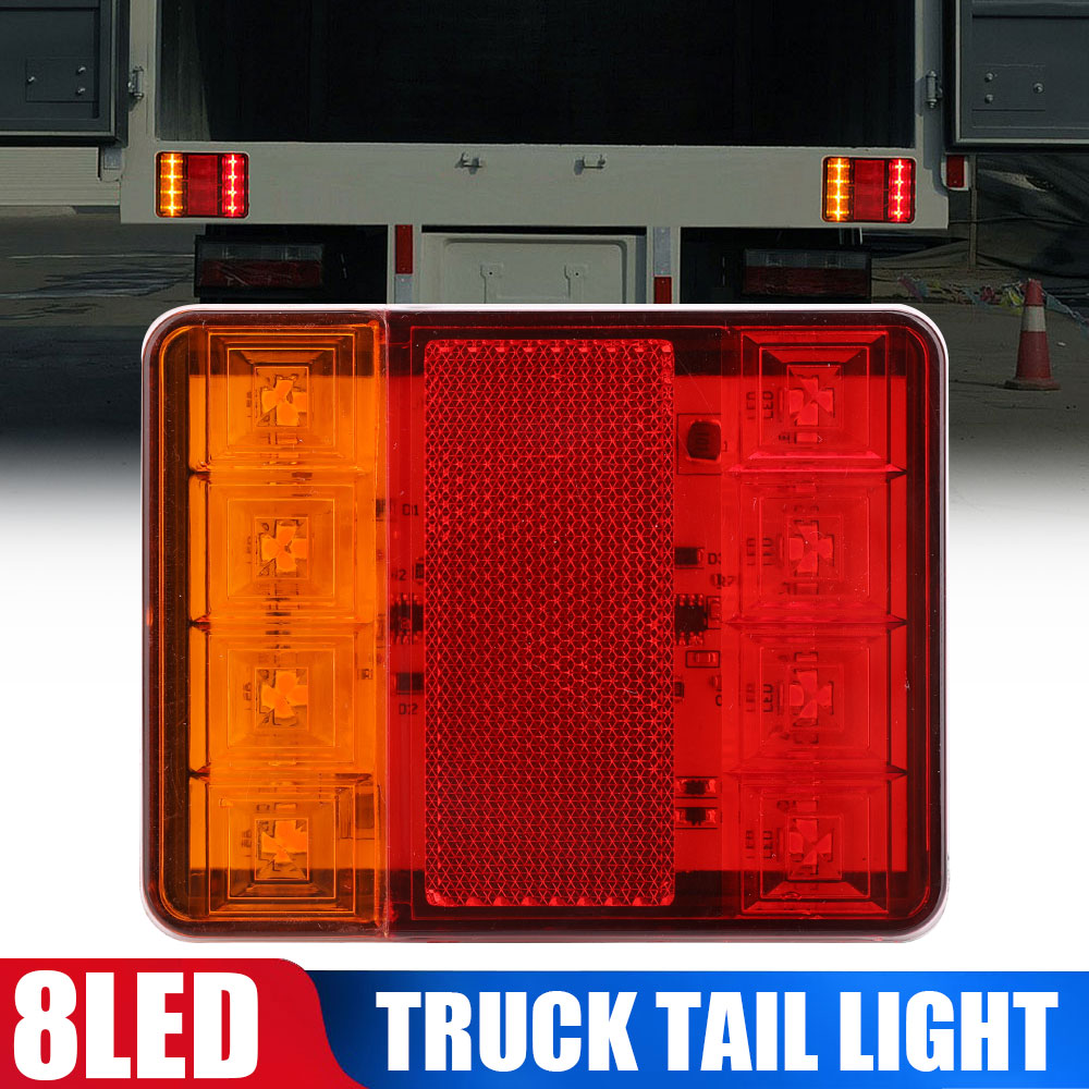 VEHEMO Marker Light Truck Trailer Lamp Side Light Pickup Camper RV 8LED Taillight Indicator Light Signal Light Auto Side Light