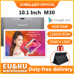 Newest Teclast M30 10.1 inch Tablet MT6797 X27 Deca Core 2560 x 1600 2.5K IPS Screen Dual 4G 4GB RAM 128GB ROM Android Tablet pc(China)