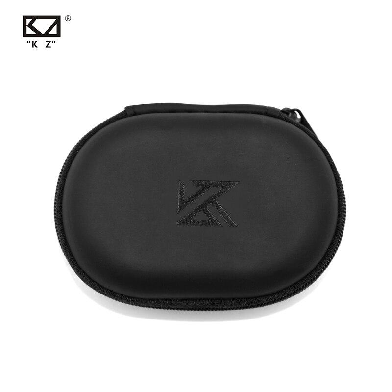 KZ овальный логотип сумка для хранения наушники PU контейнер для хранения на молнии черный Портативный провести коробку для хранения подходи...