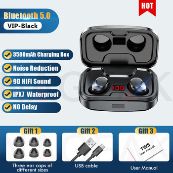 TWS Bluetooth 5.0 Earphones 3500mAh Charging Box Wireless Headphone 9D Stereo Sports Waterproof Earbuds Headsets With Microphone 9