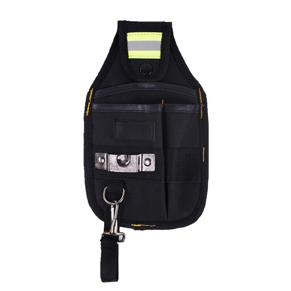 Belt Protable Carrying Pouch High Capacity Wear Resistant Waist Pocket Work Electrician Tool Bag Oxford Cloth Reflective Strip