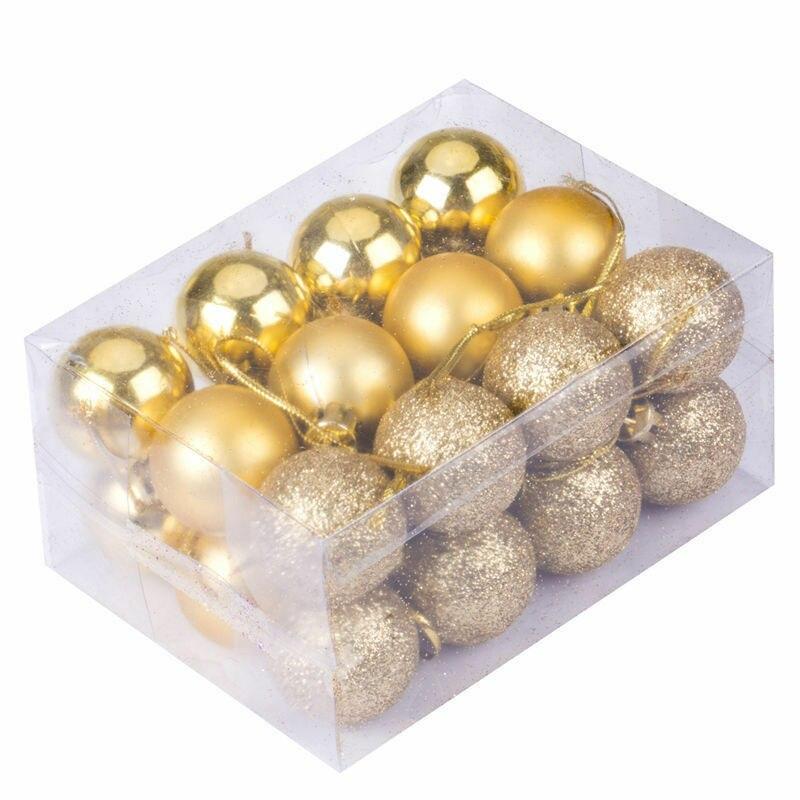 24 шт., Новогодние шарики для украшения ёлки