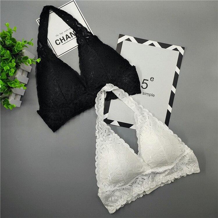 Lace Bras Bralette Sexy Halfter Suit Female Plus Size Women Backless Wirefree Underwear Crop Lingerie Brassiere