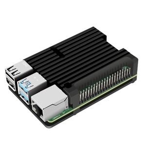for Raspberry Pi 4 Model B Aluminum Case, Passive Cooling Aluminum Alloy Protective Shell Metal Enclosure for Raspberry Pi 4 Mod(China)