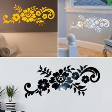 new Acrylic 3D Mirror Flower Pattern Wall Sticker WallpaperS Home TV Background Decal 3D Flowers Design Mirror Effect Wall Decor acrylic 3d sunflower fire mirror effect wall sticker
