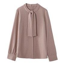 Autumn Stand Collar Chiffon Blouse Shirt Women Tops Blouse Women Blusas Mujer De Moda 2021 Long Sleeve Women Shirts Blusa D525