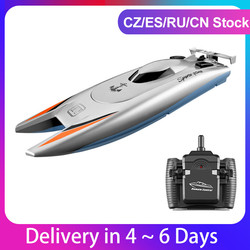 RC Boats 25KM/H High Speed Racing Boat 2 Channels Remote Control Boats for Pools Racing Boat  Toys Gift for Kids Adult
