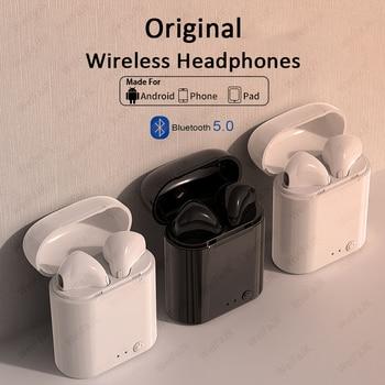 Original Apple-AirPods i7s TWS auricular inalámbrico Bluetooth 5,0 auriculares deportivos auriculares con micrófono para teléfono inteligente Xiaomi Samsung Huawei