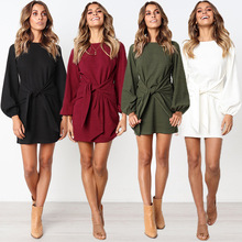 Winter Dress 2019 Autumn Women Long Sleeve Casual Straps Knitted Mujer Dess Plus Size S-XL THXDOLL