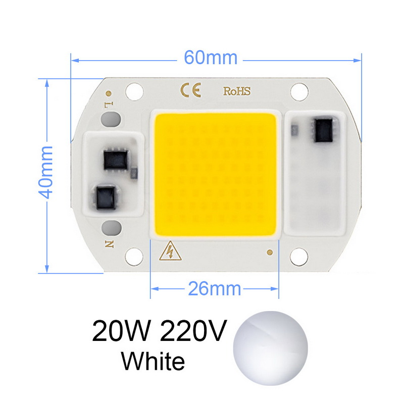 Positive White Warm White Full Spectrum 220V LED Integrated COB Lamp Beads 20W30W50W220V Driver-free Plant Growth Lamp