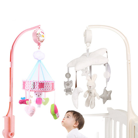 chocalhos do bebe berco moveis brinquedo macio coelho caixa musical com suporte braco brinquedos sensoriais