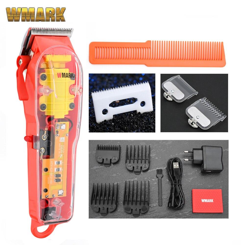 2020 WMARK новая модель NG-108 Перезаряжаемые, машинка для стрижки волос, Машинка для стрижки волос Триммер прозрачная крышка белого цвета или крас...