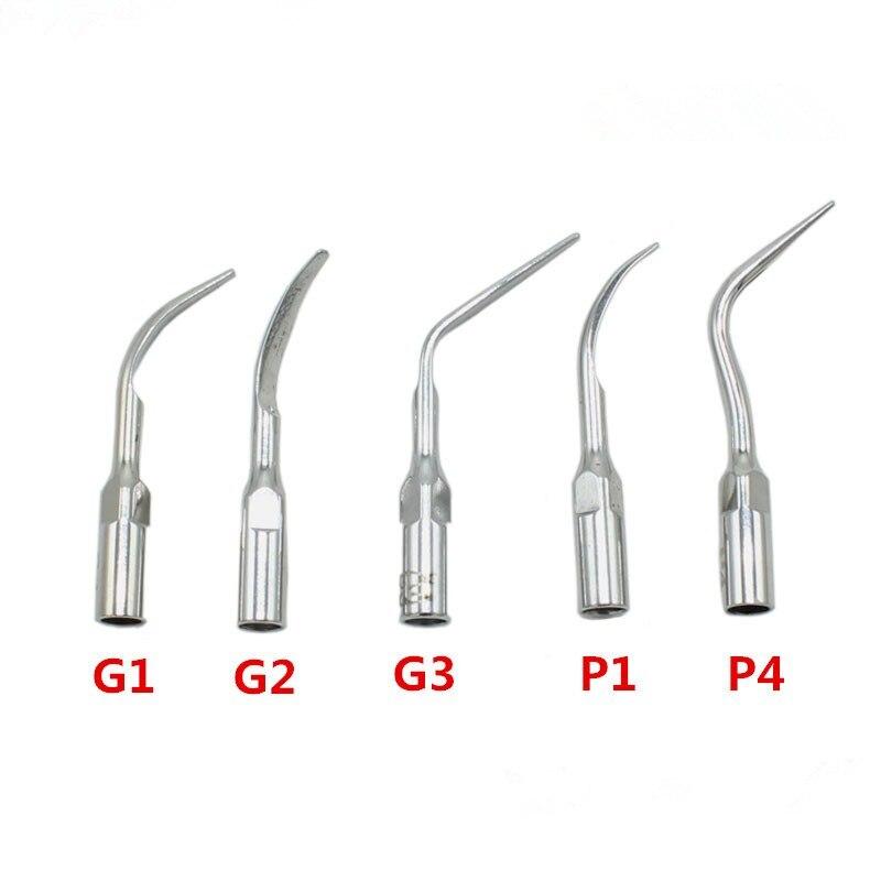 1pcs G1,G2,P1, G3,P4 Dental Scaler Tips Fit EMS Woodpecker Ultrasonic Scaler Handpiece Dental Ultrasonic Scaler Scaling Tip