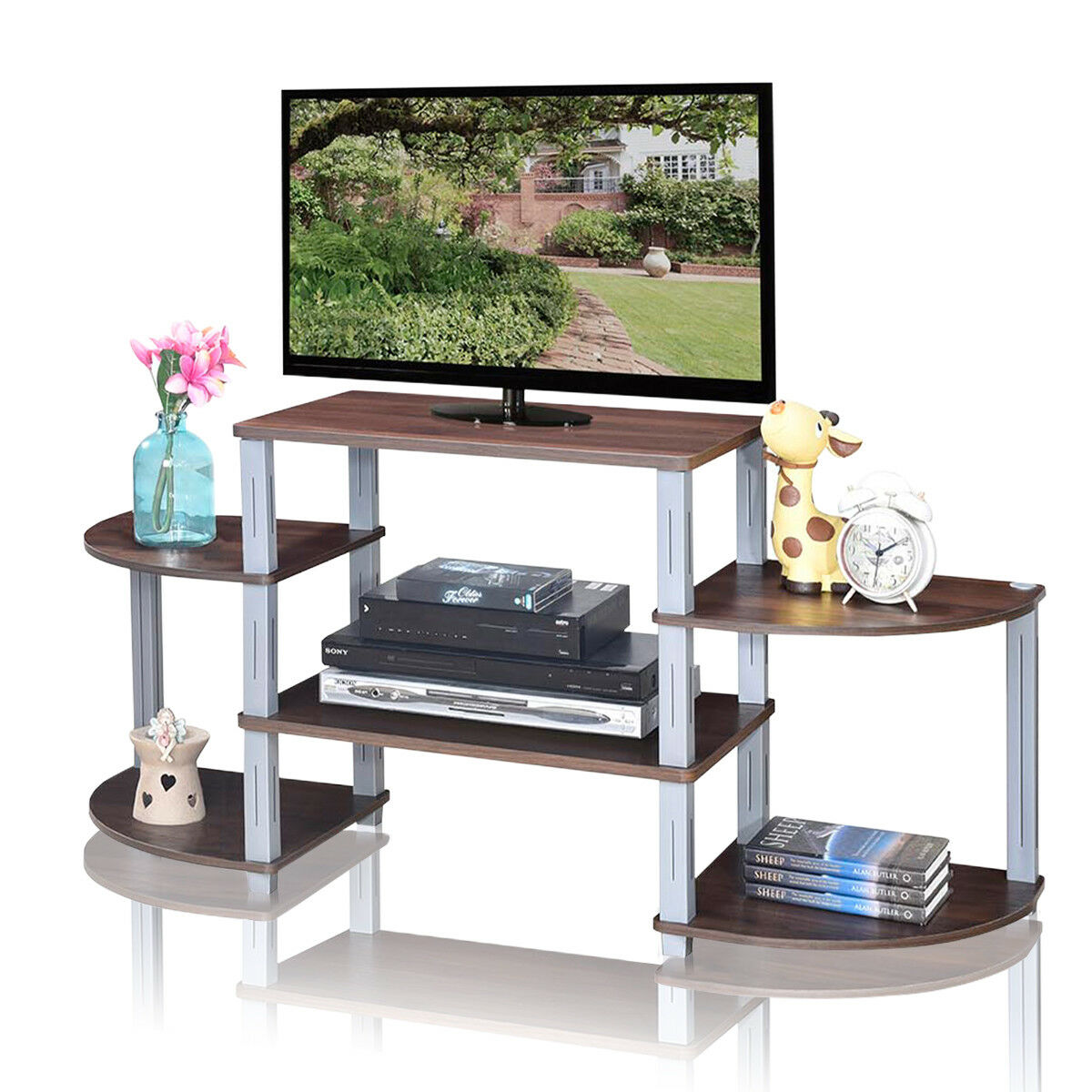Costway 3-Cube Flat Screen TV Stand Entertainment Center Media Console Storage Shelves