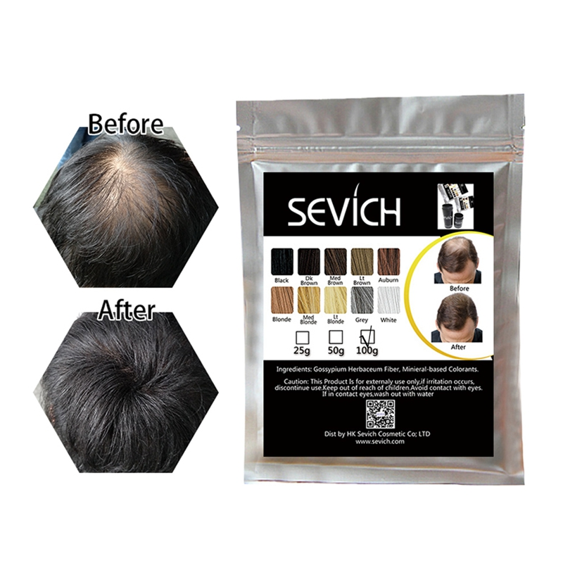 Salon Beauty 25g Refill Packs Keratin Hair Fiber Powders Spray for Thinning Loss Hair Fibre Eyelash Extension Oil 10colors