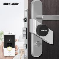 Sherlock Fingerprint + Password Smart Door Lock Home Keyless Wireless Bluetooth Integrated Electronic Lock App Phone Control