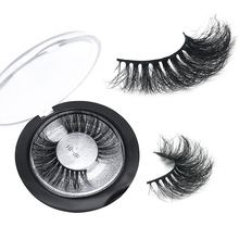 GLAMAR 3D 100% Sebria mink lashes super high quality thick fake eyelashes full strip hand made 10- 16mm false