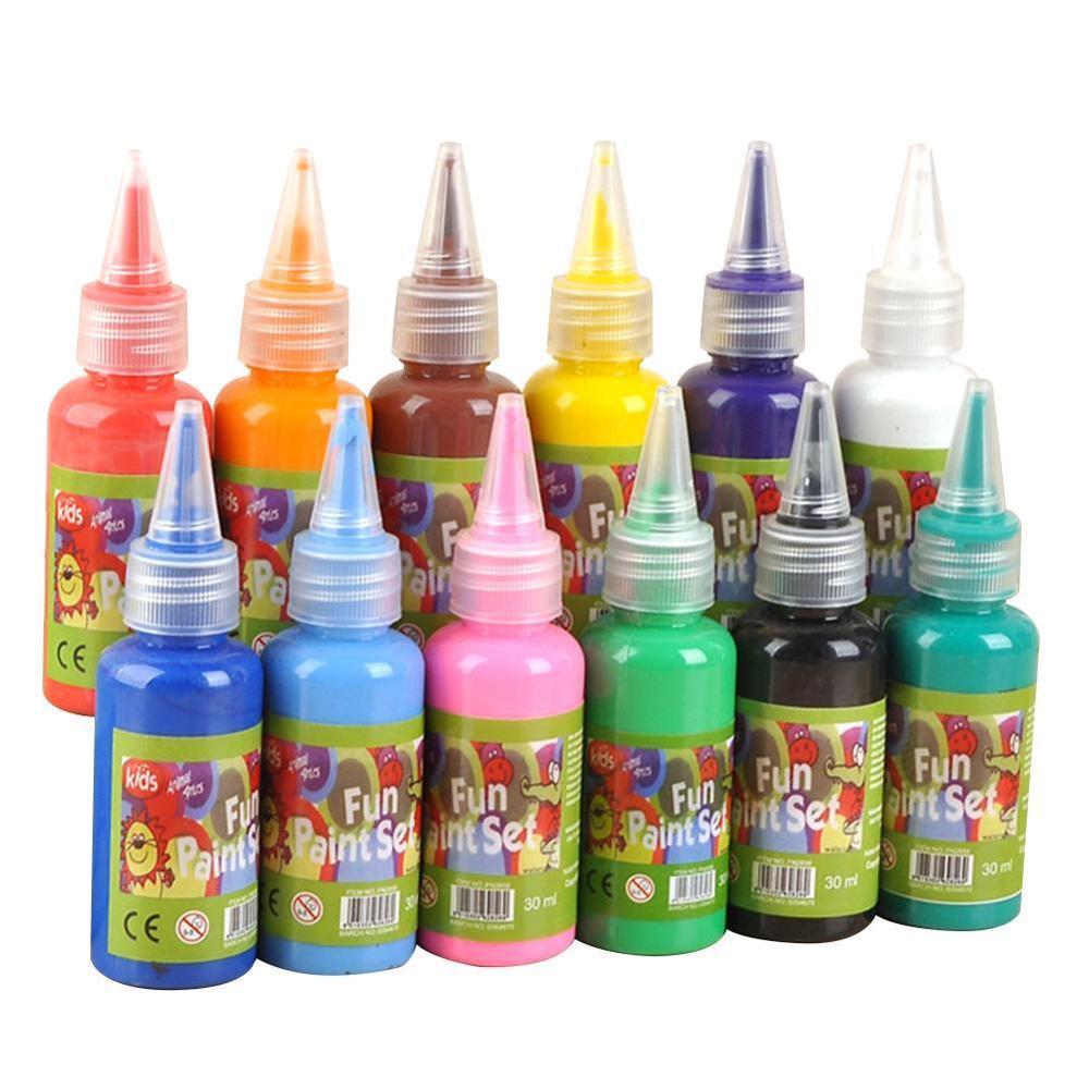 12 Color 60ml Watercolor Paint Kindergarten Children DIY Painting Wash Paint Finger Paint/ Art Supplies