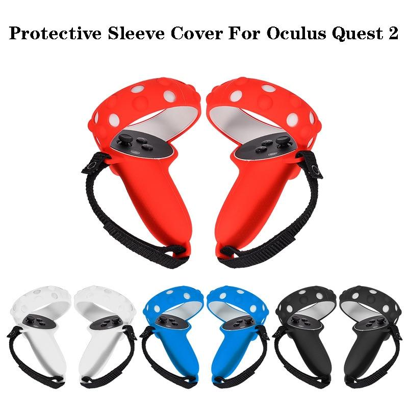 Защитный чехол для Oculus Quest 2 VR Touch Controller, силиконовый чехол с ручкой для Oculus Quest 2, аксессуары для VR